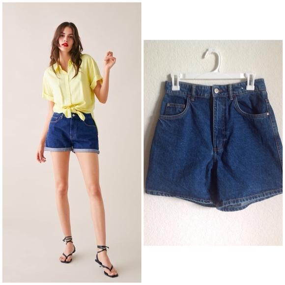 ad61c520f4 Zara Mom Fit Shorts